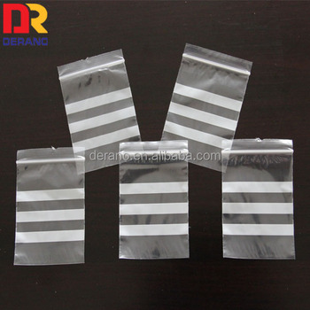 polythene zipper/grip seal bags with three writable panel