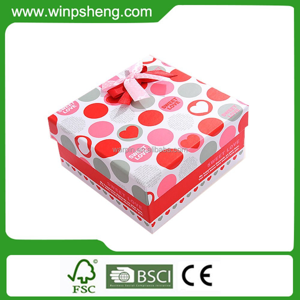 New Design Popular Elegant Fashion Red Small Wedding Favor Sugar Box