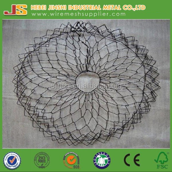 5 twist Hexagonal wire netting baskets for Tree Root guard