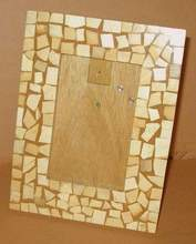 COCONUT SHELL MOSAIC PHOTO FRAMES
