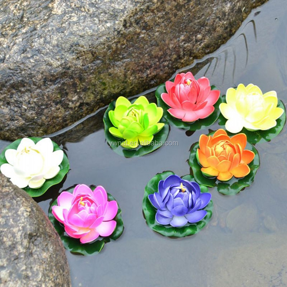 DIA 18cm Artificial lotus Water lilies flowers fake plants for Wedding Party Home Decoration gift craft