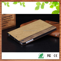 "China factory newest design vintage looking sheep leather flip tablet pc cover case for Apple iPad Pro 9.7""-beige"
