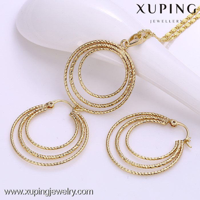 62001-xuping fashion 14k gold african beads nigerian daily wear jewelry set