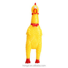 Funny Vent Long Neck Chicken Shrilling Chicken Sound Squeeze Screaming Toy Yellow for Kids Children Nice Gift