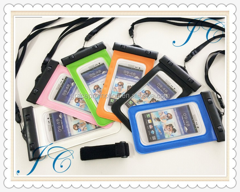 Promotional hot sale high quality portable mobile phone pvc waterproof bag for phone