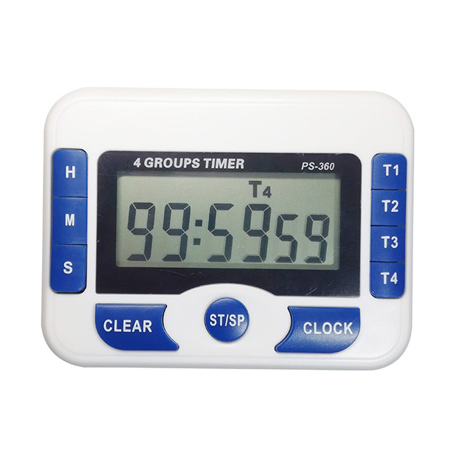 PS-360 Digital Kitchen <strong>Timer</strong> 4 Groups <strong>Timer</strong> for Laboratory Countdown Clock