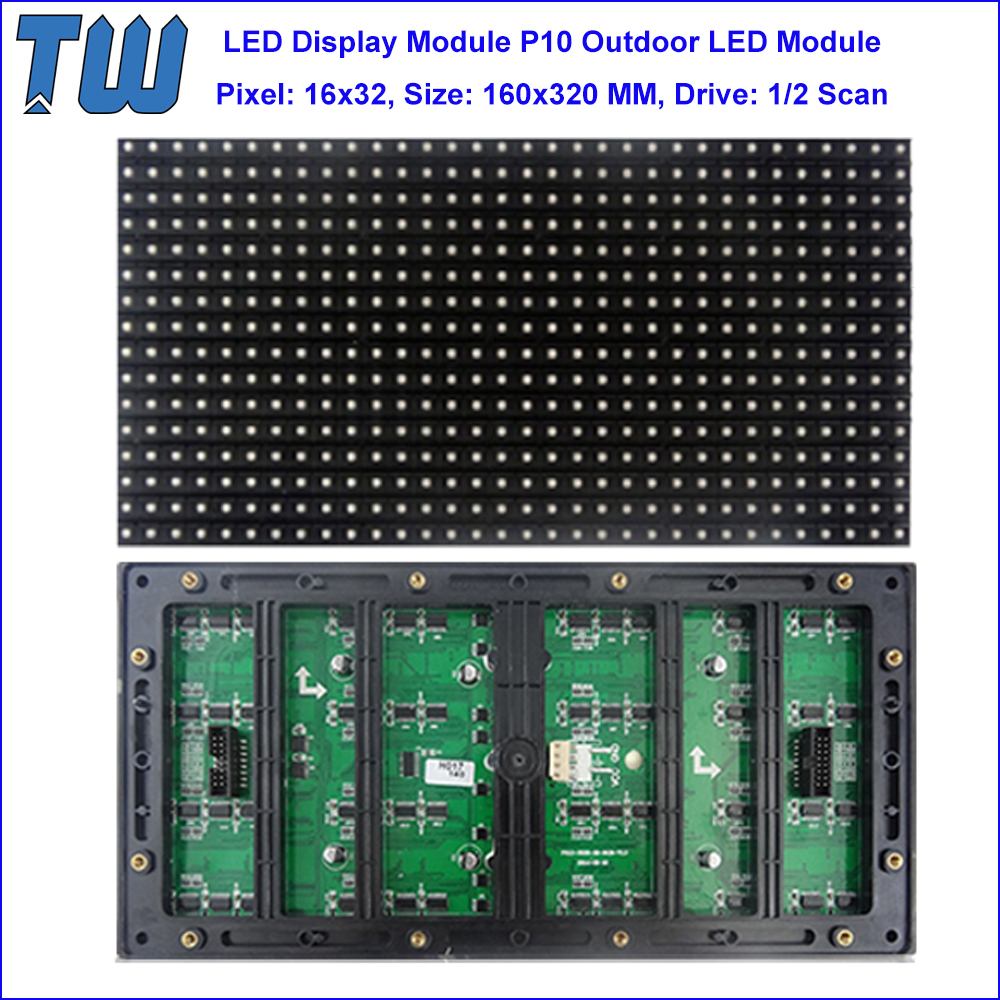 SMD3535 LED Chip P10 Module Outdoor IP65 High Resolution LED Display Screen 6500nits Brightness