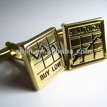 Shares Gold Buy Low and Sell High Set Jewelry Cufflinks
