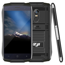 New 2017 ZOJI Z6 IP68 Waterproof Mobile Phone Smartphone 3g Feature Phone 4.7 inch Android Phone with Fingerprint Unlock