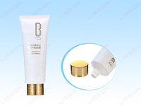 70ml to 180ml Cosmetic PE Tube with Eletrified Aluminum Cap for Hair Care Products