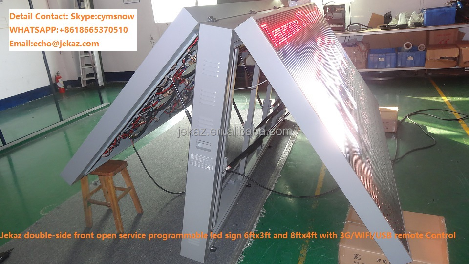 P10 Outdoor Double faces 3GWIFI LED display advertising Screen for Vehicle/truck/trailer LED screen xxx video