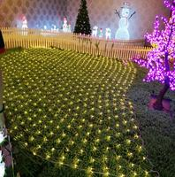 popular distribution Garden landscaping Outdoor decoration party solar led net christmas lights sale