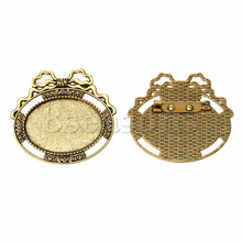 Custom Oval Gold Tone Cabochon Settings Jewelry Findings Cameo Frame Brooches