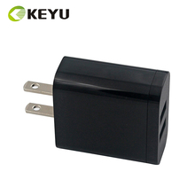 CB CE certificate travel portable US EU plug OEM 2 port USB wall Charger for smart phone