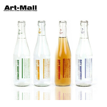 Wholesale 300ml clear glass beer bottle with crown cap