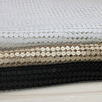 Hot High Quality Water Soluble Sequin Lace Fabric With Embroidery