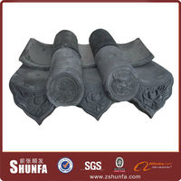 Steel Gray Terracotta Roof Tiles Price For Chinese Style Building