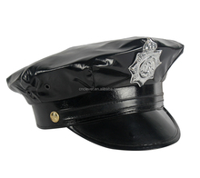 Factory Supply unique design party police leather hat with many colors