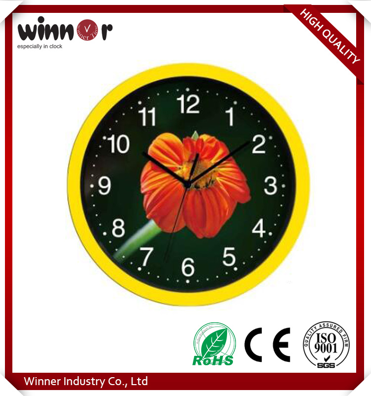 Hot sale promotional cheap glass/ plastic large wall clock modern