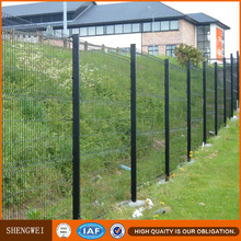 Peach post PVC coated wire mesh fencing for boundary wall