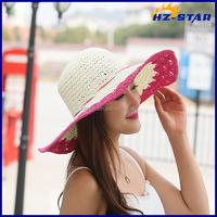 HZM-16158004 new fashion cheap straw hollow female visor climbing beach sun hat