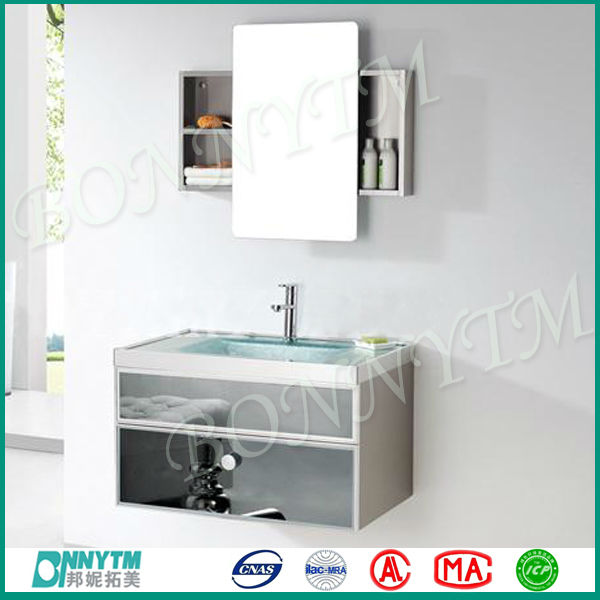 Wanghua Bonnytm Wall Mounted Sliding Bathroom Mirror Cabinet