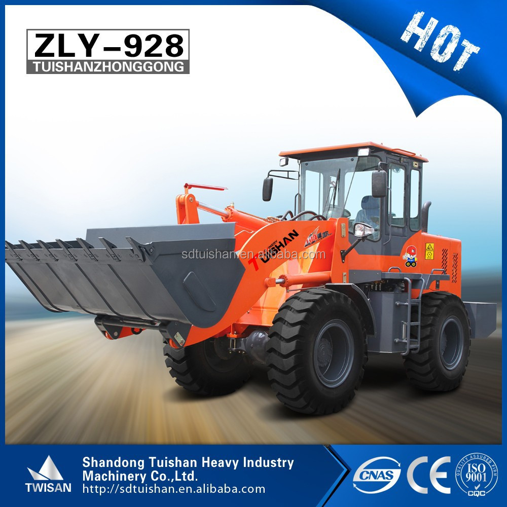 Russia client hor selling china cheap wheel loader tractor backhoe type with digger attachment