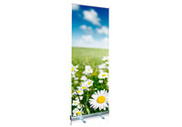 85*200 Retractable Roll up Banner Stand with Vinyl Print