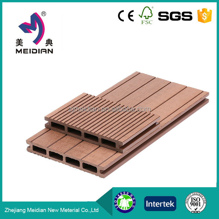 water resistance Long lifetime wpc wood plastic composite decking floor for outdoor