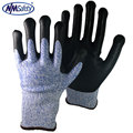 NMSAFETY EN388 The Newest Standard HPPE Cut Resistant Gloves Industrial Safety Work Gloves with CE