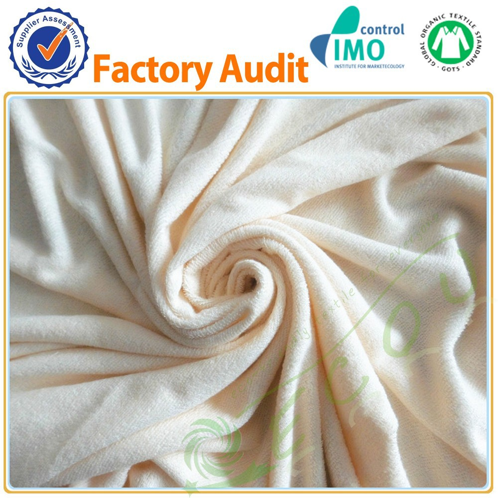 Hot sale Breathable bamboo terry fabric factory