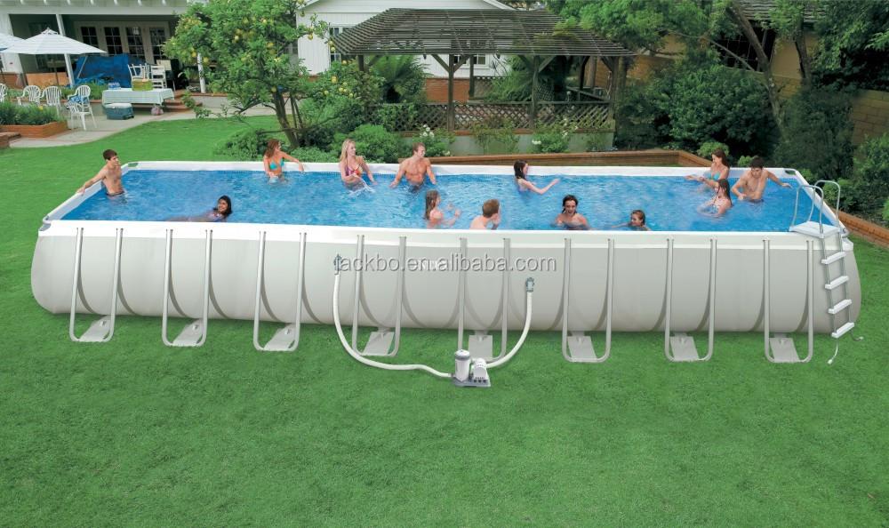 2015 Outdoor Rectangular Metal Swimming Frame Pool Portable Pools Adult Plastic Pools Buy