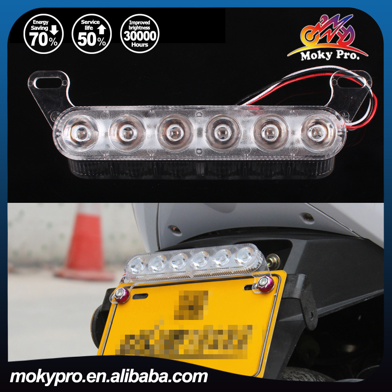 12V LED emergency strobe flash warning knight rider strobe light for motorcycle