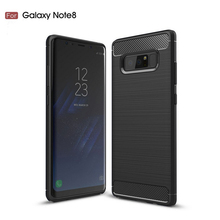 2017 New arrival shockproof soft silicone carbon fiber cell phone cover case for Samsung galaxy note 8