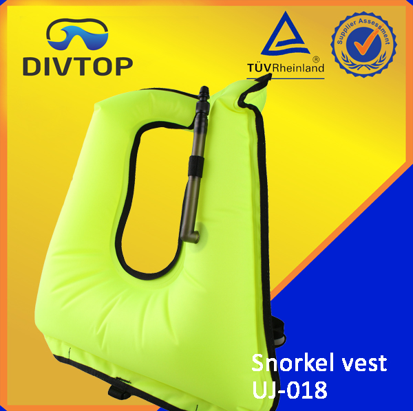 210 Denier Nylon TPU Coating Neoprene Edge Snokeling Vest