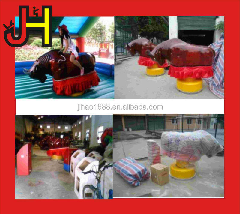 2016 Top Quality Crazy Bullfighting Mechanical Bull Riding With Inflatable Mattress For Sale