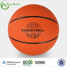 Promotion rubber basketball with customized logo or printing available