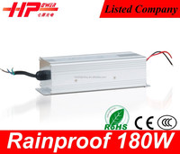 Made in China rainproof 2 year warranty LED driver transformer 180w 12v 15 ampere with CE Rohs SAA approved xbox 1 power supply