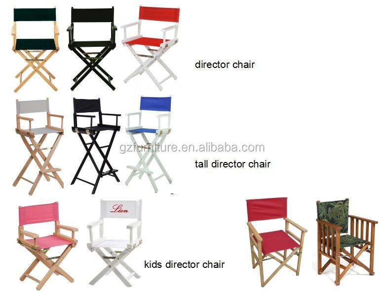World Famous Dining Height Director Chair Varnish/Natural
