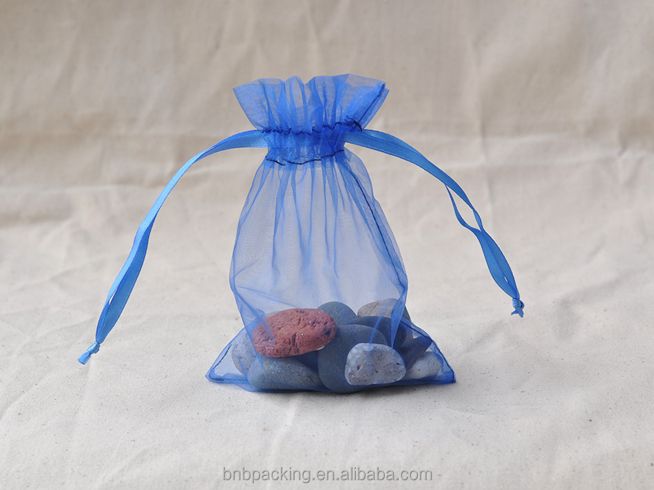 Cheap Mini Gift Bags Wholesale Organza Gift Pouch With Ribbon Drawstring