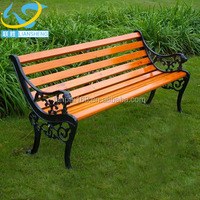 2017 new style cast iron garden bench part wood long bench