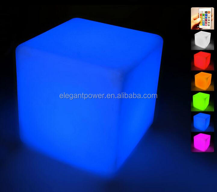 Modern design party LED <strong>light</strong> up cube / LED glowing decorative cube chairs