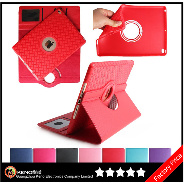 Keno 360 Degree Rotate Fashionable Folio Stand Smart Case Cover for iPad Mini 2 3 4 Case (With Wake Sleep Function)