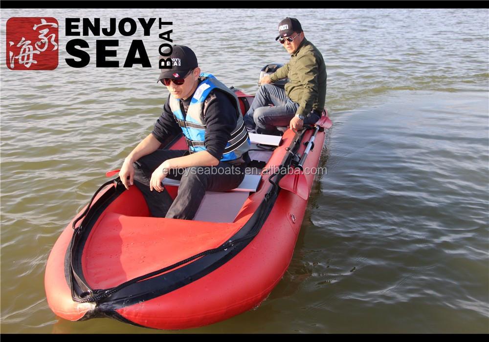 New style double fishing kayak drop stitch material for for Double fishing kayak