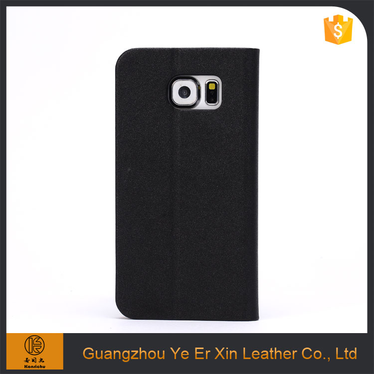 Wholesale 2017 hot selling luxury leather smart mobile phone case for samsung galaxy s6 s7 edge