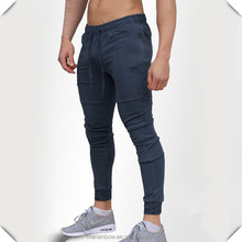 Hot Sale Mens Casual Sweatpants Bodybuilding Sports Skinny Jogger Pants Tapered Joggers Wholesale Navy/Grey Plain Joggers