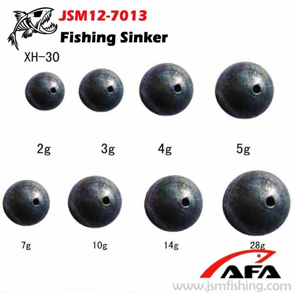 china suppliers product fishing tackle lead sinker ball sinker for fishing