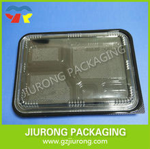 disposable plastic food grade compartment sushi container