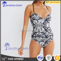 2017 Women's sexy strappy open back one piece swimwear, hot sale!