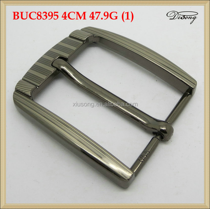 BUC8395 Single Prong Replacement Basic Metal Jean Pin Belt Buckle for Leather Belt